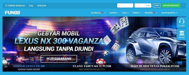 Online Kasino dan Permainan Taruhan di Fun 88