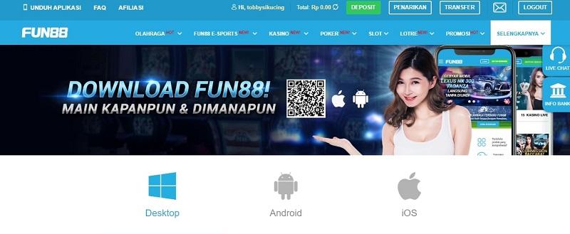 Besar Bersama Fun88 Indonesia - Unduh Aplikasi Bakarat
