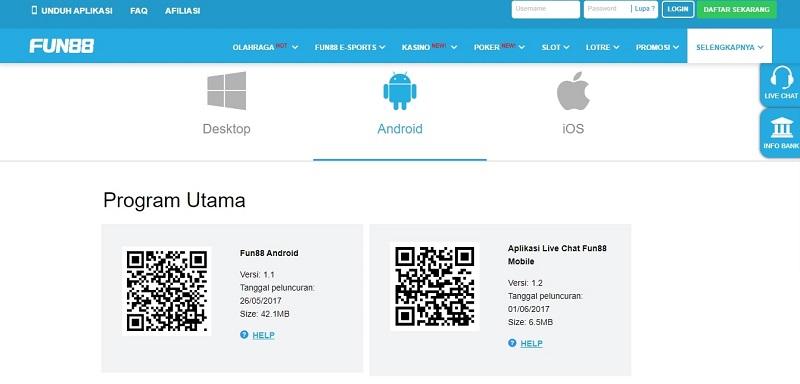 Aplikasi Android Bandar Judi No. 1