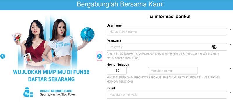 Ketahui Berbagai Menu Fun88 Dashboard dan Cara Mendaftar di Situsnya