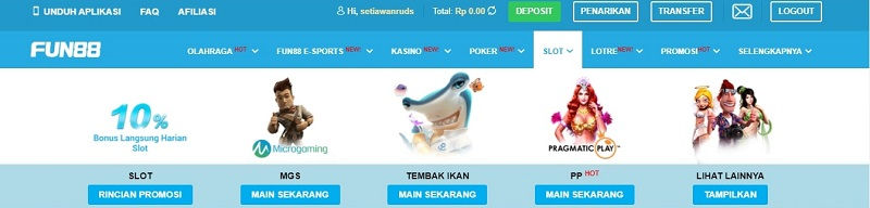 Kisah Slot Game di Fun88